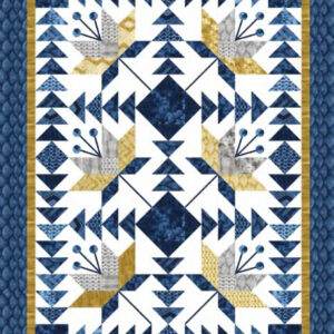 Kit includes pattern and fabrics for quilt top and binding Finished size 84x108 Cost: $190.00